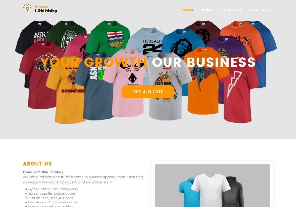 Emirates t shirt printing website for T shirt printing website